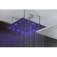 LED shower rain head stainless steel Hydro-electric power,