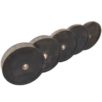 Natural Rubber Black Bumper Plate Crossfit