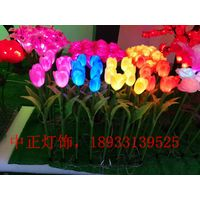 tulip flower with led light for outdoor or garden