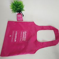 Foldable polyester keychain shopping bag polyester T-shirt pouch shopping bag thumbnail image