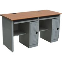 2 person steel computer desk