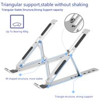 Portable Laptop Stand with 6 Angles Adjustable Laptop Computer Stand Aluminum Ergonomic Laptops Elev