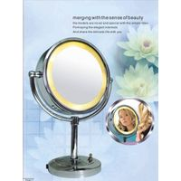 led lighted magnified vanity table mirror thumbnail image