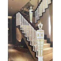 Gold and white Aluminum handrail railing