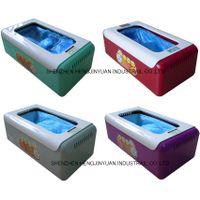 steel core red automatic shoe cover dispenser case