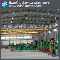 Automatic HF welding H beam machine assembling line