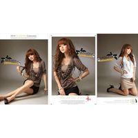 JJ fashion Chiffon flower string  shirts    Products ID: 024D-81113
