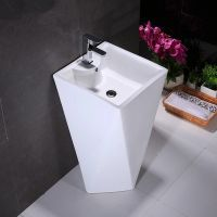 Good design ceramic big pedestal basin for sale