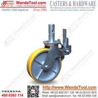 """8"""" Solid Stem Scaffold Caster with Yellow Polyurethane Wheel"""