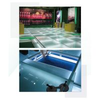 Adjustable platform flooring system exhibition display wooden stage OEM carpet design installation