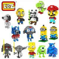 Wholesale Hot Cartoon LOZ Diamond Blocks Building Toys Educational Intelligence Blocks Mini Blocks f