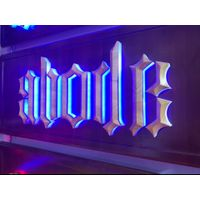 custom outdoor metal logo led illuminated company sign