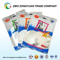 manufacture plastic hot three side seal sea food packaging bag