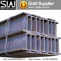 Steel Hot rolled h beam, come in various sizes