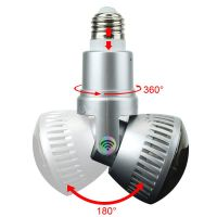 Wireless P2P Bulb IP Camera with LED Light and Remote Control