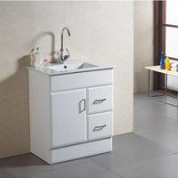 Modern high-glossy white MDF bathroom cabinet