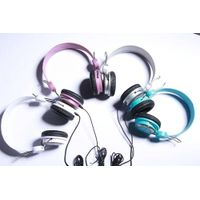 computer stereo headphones attractive four color headset