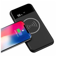 10000Mah 10W Fast Charging Qi Wireless Power Bank Wireless Charger For Iphone 8 X