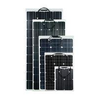 Monocrystalline flexible solar panel MATT / ETFE 60w - 180w for boat, car battery thumbnail image