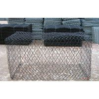 High-strength low-carbon steel wire braided into gabion mesh to reinforce building facilities