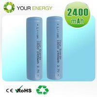 3.7V Li-ion rechargeable cylindrical 18650 battery 2000mah, 2200mah, 2400mah, 2600mah, 2800mah thumbnail image