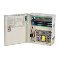 cctv power supply box dc12v 20a 18ch