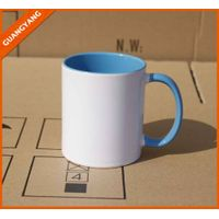 Wholesale 11oz white ceramic sublimation blank mug, sublimation mug for sublimation transfer machine