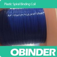 Obinder plastic spiral binding coil customized color