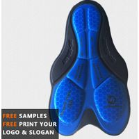 cycling pad with gel of stamp blue for cycling wear