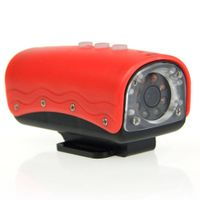 5.0 Mega Pixels HD 720P Waterproof Action Video Camera with 8-LED Night Vision - red (TF)