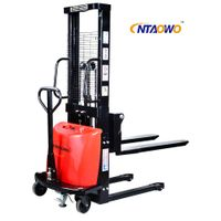 Semi Electric Stacker with 1.5Ton 2Ton 1600mm 2000mm 2500mm 3000mm