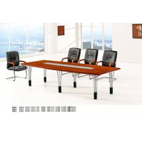 smooth melamine surface wood material rectangle office meeting table thumbnail image