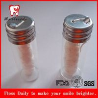 silk dental floss with glass bottle container