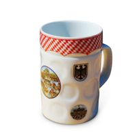 Ceramic Beer Mugs with Decal Printing, Customized Printed Logos and Designs are Welcome