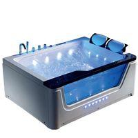 Newest design 1700mm acrylic massage jaccuzi whirlpool bathtub with Waterfall thumbnail image