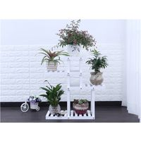 Firm wood plant stand 4 tiers flower shelf unit FS005 thumbnail image