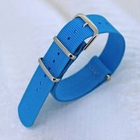 18,20,22,24mm Blue Nylon Nato Watch Strap