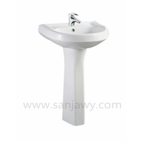 hand wash basin with pedestal, western style pedestal sink