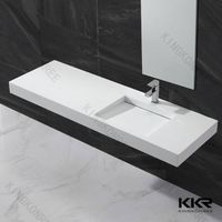 bathroom resin stone countertop wall hung wash basin price