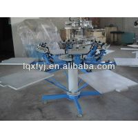 6 color 6 station t shirt screen printing machine for sale