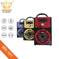 wooden portable bluetooth speaker with karaoke and FM function thumbnail image