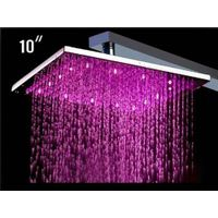 LED Shower (Water pressure self-powered) with chrome plating, made of brass thumbnail image