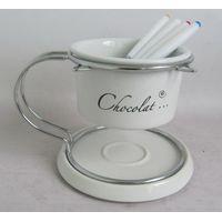 hot sale stoneware chocolate fondue set