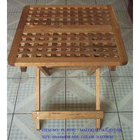 Folding Hole Table: white oak furniture, outdoor furniture, folding table thumbnail image