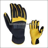 Yellow Goatskin leather mechanic gloves/industry gloves
