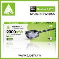 2000mW,8187L,54Mbps,10dbi antena wifi network adapter