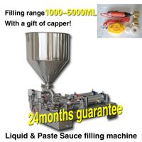 1000-5000ml cream shampoo toothpaste cosmetic paste filling machine,liquid filler with double nozzle thumbnail image