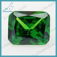 Factory Direct Sale Octagon Synthetic Zircon Emerald Stone Prices