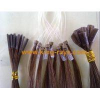 Nail Tip Hair Pre Bonded Hair Keratin Remy Hair Extension