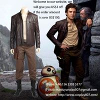 ManLuYunXiao Star Wars 8 Poe Dameron Cosplay Costume Adult Full Set For Men Custom Made